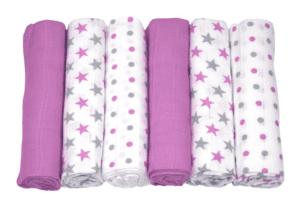Babyfiltar 6-pack lila